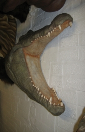 Crocodile Head Wall Plaque (JR 110086) - Thumbnail 02
