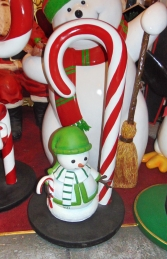 Candy Cane with Snowman mini (JR S-182) - Thumbnail 03