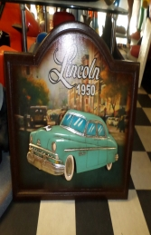 Car Plaque Lincoln 50 sign (JR 2624) - Thumbnail 01