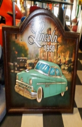 Car Plaque Lincoln 50 sign (JR 2624) - Thumbnail 02