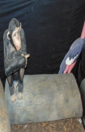 Chimp on Tree Trunk Seat (JR 180038) - Thumbnail 03