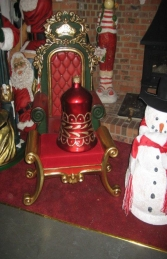 Christmas Decor Bell Red w/Gold (JR 1189-H) - Thumbnail 03