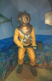 Deep Sea Diver Lifesize Siebe Gorman Diver (JR FY) - Thumbnail 01