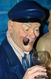 Seated Old Sea Captain life-size (JR OSC) - Thumbnail 03