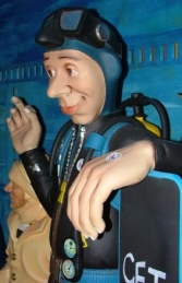 Funny Scuba Diver with Menu Board Life-size (JR DE) - Thumbnail 03
