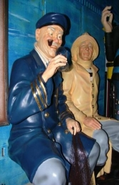 Seated Old Sea Captain life-size (JR OSC) - Thumbnail 01