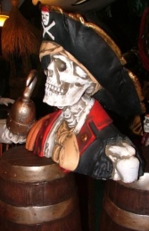 Pirate Skull Bust Captain Hook (JR 2435) - Thumbnail 02