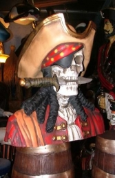 Pirate Skull Bust - Royal (JR 2434) - Thumbnail 02