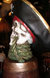 Pirate Skull Bust with Rope (JR 2436) - Thumbnail 03