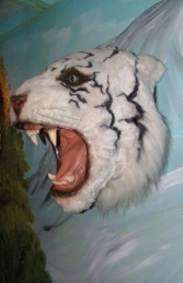 Tiger Head - White (JR 2107-W)