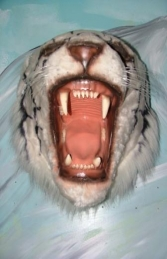 Tiger Head - White (JR 2107-W) - Thumbnail 03