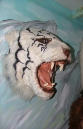 Tiger Head - White (JR 2107-W) - Thumbnail 02