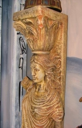 Pillar - Roman Figure Column Female 5ft (JR 1758) - Thumbnail 02