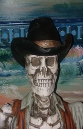 Skeleton Cowboy Figure-Head 4ft (JR 2457) - Thumbnail 03