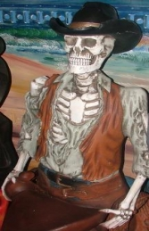 Skeleton Cowboy Figure-Head 4ft (JR 2457) - Thumbnail 02