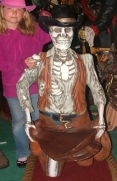 Skeleton Cowboy Figure-Head 4ft (JR 2457) - Thumbnail 01