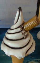 Standing Sugar Cone with Flake Chocolate Sauce (JR SCWF4-CS) - Thumbnail 03
