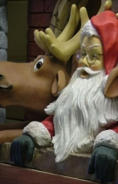 Santa and Funny Reindeer with Chimney (JR GD) - Thumbnail 03