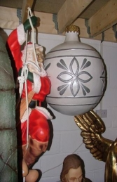Christmas Decor Ball White w/Silver 1.5ft (JR 1193-A) - Thumbnail 02