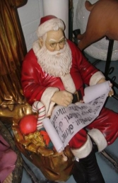 Santa Sitting with Candle and List (JR 2215) - Thumbnail 02