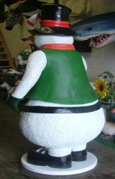 Snowman with Candy Cane Lantern 6ft (JR 2401) - Thumbnail 03