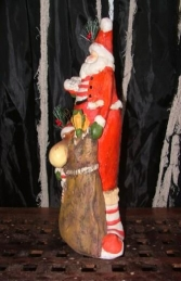 "Christmas Santa with Reindeer in Sack 15"" (JR PP8056) - Thumbnail 02"