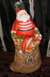 "Christmas Santa with Teddy in Sack 15"" (JR PP8058)"