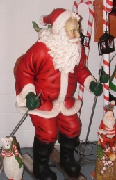 Santa on Skis Life size figure (JR 2041) - Thumbnail 02