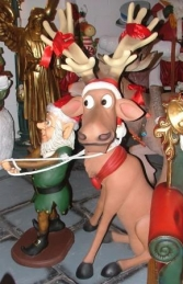 Funny Reindeer pulled by Elf (JR EG) - Thumbnail 03