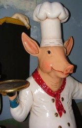 Pig Chef with Black-board 6ft (JR 2190) - Thumbnail 02