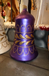 Christmas Decor Bell Purple w/ Gold (JR 1188-E)