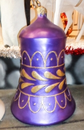 Christmas Decor Bell Purple w/ Gold (JR 1188-E) - Thumbnail 02