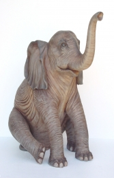 Elephant Sitting 5ft (JR 2232) - Thumbnail 01