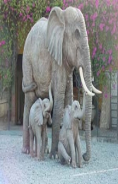 Elephant Sitting 5ft (JR 2232) - Thumbnail 02