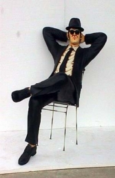 Blues Brothers seated life-size pair (JR 1525)  - Thumbnail 03