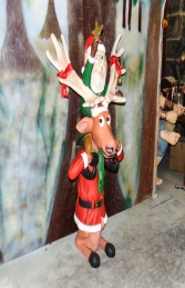 Elf on back of funny Reindeer (JR HW) - Thumbnail 03