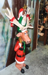 Elf on back of funny Reindeer (JR HW) - Thumbnail 02