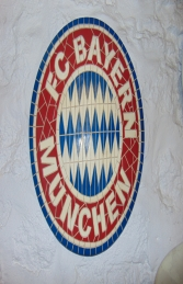 Bayern Mosaic Football Sign (JR 2656)