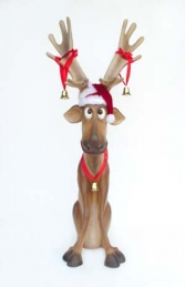 Funny Reindeer 5ft Sitting (JR 2144)
