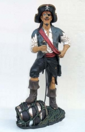 Funny Pirate Stood on Barrel 6ft (JR 2433)
