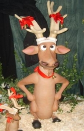Funny Reindeer with Hands on Hips (JR 2354) - Thumbnail 01