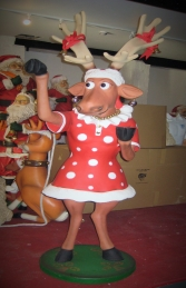 Funny Reindeer Female 6ft (JR HV) - Thumbnail 01