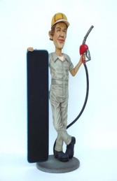 Gasoline Man figure with Menu-board 5.5ft (JR 1848) - Thumbnail 03