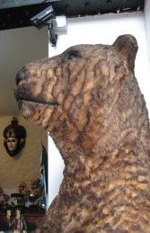 Grizzly Bear with Fur 7ft Tall (JR 2574-F) - Thumbnail 02