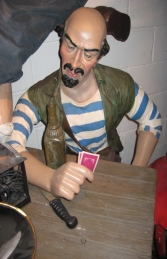 Seated Pirate Pedro 5.5ft (JR 110054)		 - Thumbnail 01