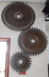 Gears (set of 3) Rust look ( JR 150046) - Thumbnail 03