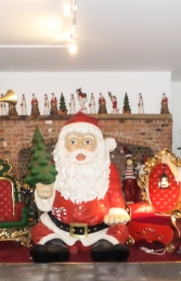 Giant Sitting Santa Claus Statue- 8ft (JR 140080) - Thumbnail 01