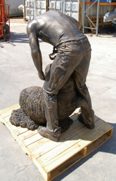 Shearer in Bronze 6ft (JR 110072) - Thumbnail 02