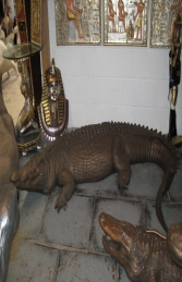 Crocodile in Bronze 12ft Long (JR 080123B)	 - Thumbnail 01