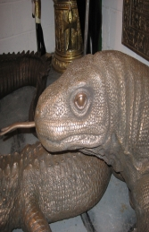 Komodo Dragon in Bronze 11ft Long (JR 080121B) - Thumbnail 02